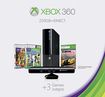 Microsoft - Xbox 360 250GB Holiday Bundle with Kinect and 3 Games