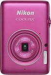 Nikon - Coolpix S02 13.2-Megapixel Digital Camera - Pink - Pink