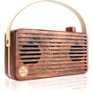 GOgroove - WUD Universal Retro Wood Bluetooth Speaker w/ Wireless NFC Technology , Microphone & Carry Handle - Multi
