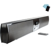 Accessory Power - High-Fidelity Ultraslim Bluetooth Wireless TV Sound Bar Speaker System with 3D Surround Sound Mode - Black