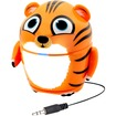 GOgroove - Kid-Friendly Tiger Rechargeable Speaker w/ 3.5mm AUX for HTC One M8, LG G2 & More Smartphones