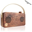GOgroove - WUD Portable Bluetooth Speaker with Wireless NFC Technology & Microphone for Tablets + More - Brown