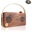 GOgroove - WUD Retro Wood Bluetooth Stereo Speaker w/ Wireless NFC Technology & Microphone for Laptop & PC's - Brown