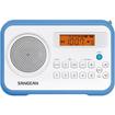 Sangean - FM-Stereo / AM Digital Tuning Portable Receiver - Blue, White - Blue, White