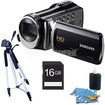 Samsung - HMX-F90 52X Optimal Zoom HD Camcorder Black Kit