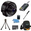 Sony - Bundle DSC-QX10/B Smartphone Attachable Lens-Style Camera - Black