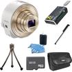 Sony - Bundle DSC-QX10/W Smartphone attachable lens-style camera (White)