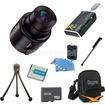 Sony - Bundle DSC-QX100/B Smartphone attachable lens-style camera