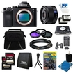 Sony - Bundle a7 Full-Frame Interchangeable Lens Black Digital Camera