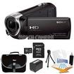 Sony - Bundle HDR-CX240/B Entry Level Full HD 60p Camcorder - Black