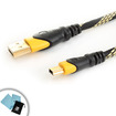 Accessory Power - DATASTREAM 6 foot Premium USB Charging Cable for iHome IHM60L 3.5mm Aux Portable Speaker - Black/Yellow