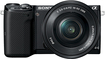 Sony - NEX-5T Compact System Camera with 16-50mm Retractable Lens - Black