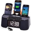 DOK - CR32: 4 Port Smart Phone Charger with Speaker, Alarm, Clock & FM Radio