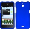 Insten - For Huawei Valiant Y301 / Ascend Plus H881c Rubberized Case Cover - Blue