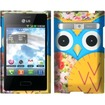 Insten - For LG Optimus Logic L35g / Dynamic L38c Rubberized Hard Design Case Cover - Owl