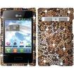 Insten - For LG Optimus Logic L35g / Dynamic L38c Full Diamond Design Case Cover - Cheetah Diamond