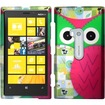 Insten - For Nokia Lumia 920 Rubberized Design Case Cover - Owl