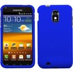 BasAcc - For Samsung Epic Touch 4G D710 / Galaxy S2 Rubberized Case Cover - Blue - Blue