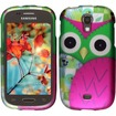 Insten - For Samsung Galaxy Light T399 Rubberized Design Case Cover - Owl