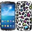 Insten - For Samsung Galaxy Mega 6.3 Rubberized Design Case Cover - Colorful Leopard