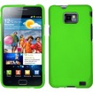 Insten - For Samsung Galaxy S II i777/i9100 Rubberized Hard Case Cover - Neon Green