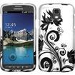 Insten - Rubberized Design Case Cover For Samsung Galaxy S4 Active i537 i9295 - Black Vine