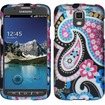 Insten - Rubberized Design Case Cover For Samsung Galaxy S4 Active i537 i9295 - Exotic Flowers