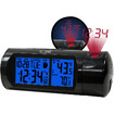 La Crosse Technology - Projection Alarm Clock with IN/OUT Temp and Sound-Activated Backlight
