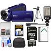 Sony - Handycam HDRCX240 1080p Full HD Camcorder Blue w/ 32GB Card+Battery+Case+Video Light+Tripod+Kit