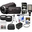 Sony - Handycam HDRPJ540 32GB HD Camcorder+Projector +32GB Crd+Batt+Case+Video Light+Tripod+Tele/Wide Lens