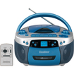Hamilton Electronics - Electronics USB MP3 CD Cassette and AM/FM Radio Boom Box - Blue, Silver - Blue, Silver