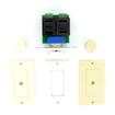 Acoustic Audio - Acoustic Audio AAVCD3C 3 Color Dial Speaker Volume Controls 4 Pc Set AAVCD3C-4S - White