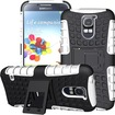 JKase - DIABLO Series Case Cover with Build in Stand for Samsung Galaxy S5 I9600 - Retail Packaging - White - White