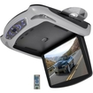 "Pyle - 13.3"" Flipdown Roof Monitor DVD USB SD Wireless Fm/Ir Transmitter - Gray"