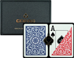 Trademark Games - Copag Plastic Poker-Size Playing Cards - Blue/Red