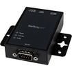 Startech - 1 Port RS232 Serial to IP Ethernet Converter / Device Server Aluminum - Black - Black