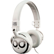 Bell'O - and Over-the-head Headphones with Track Control and Microphone - Dark Chrome, White - Dark Chrome, White