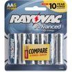 Rayovac - Mercury Free High Energy Alkaline Batteries, AA 6 Pk - Blue, Silver - Blue, Silver