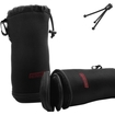 Accessory Power - Protective Telephoto Lens Case with Dual Filter Compartment - Works with Canon , Nikon & More