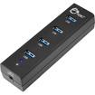 SIIG - SuperSpeed USB 3.0 4-Port Hub - Black - Black
