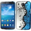 Insten - For Samsung Galaxy® Mega 6.3 Rubberized Design Case Cover - Blue Vines