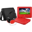 """Ematic - Portable DVD Player - 7"""" Display - 480 x 234 - Red - Red"""