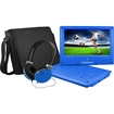 """Ematic - Portable DVD Player - 9"""" Display - 640 x 234 - Blue - Blue"""