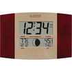 La Crosse Technology - Atomic Digital Wall Clock with Moon & In/Out Temp