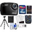 Coleman - Xtreme2 C12WP Shock+Waterproof Camera+HD Video +16GB Card+Case+Batteries+Charger+Flex Tripod+Acc Kit