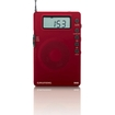 Grundig - Super Compact AM/FM Shortwave Radio with Digital Display - Red - Red