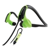 GOgroove - AudiOHM CFT Active Sports Headset w/ Powerful Bass for Samsung Galaxy S5 , HTC One M8 & More - Black, Green - Black, Green