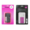 Wireless Genius - Wireless Genius - Case for Apple iPhone 3G Cell Phones - Magenta/Clear