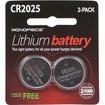 Monoprice - Lithium CR2025 3V Battery 2-Pack