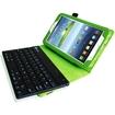Fintie - Folio Key Bluetooth Keyboard Case Cover for Samsung Galaxy Tab 3 7.0 inch Tablet - Green